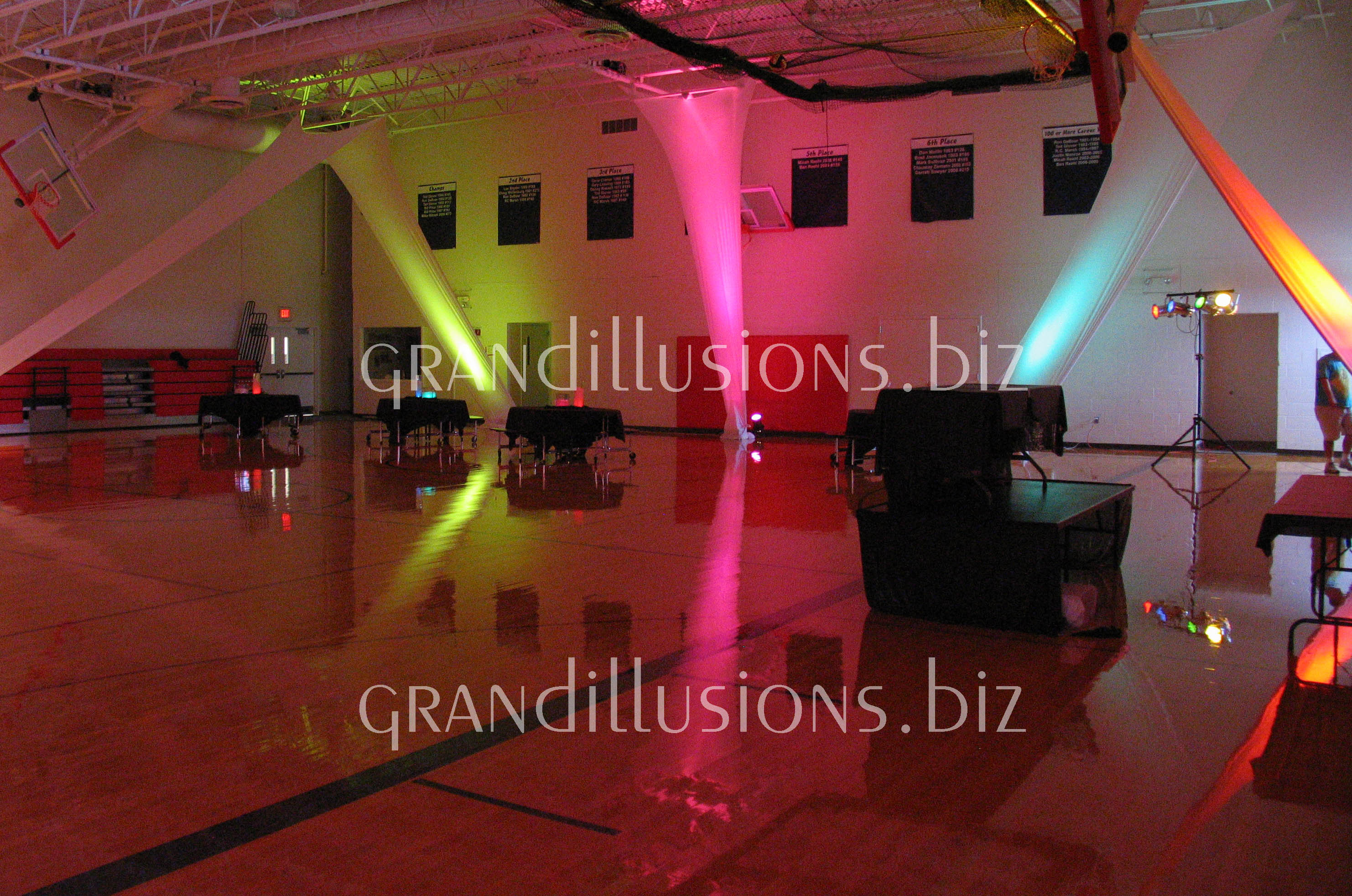 colorful lights at prom grand illusions 2