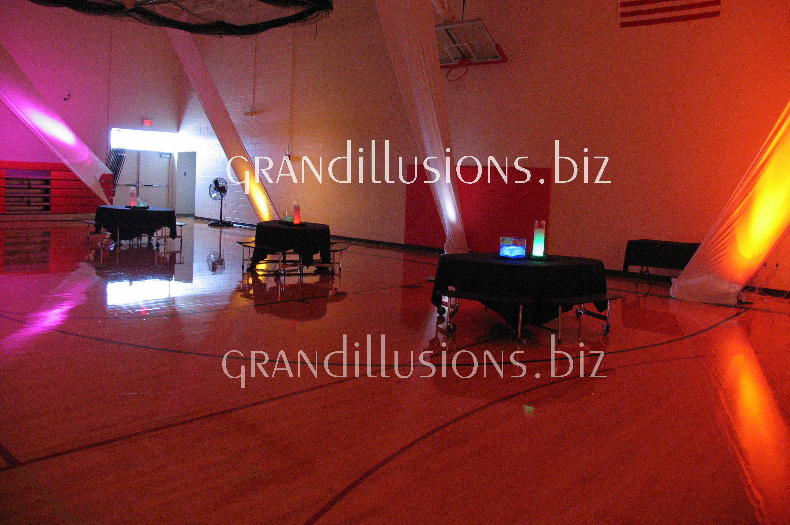 colorful lights at prom grand illusions