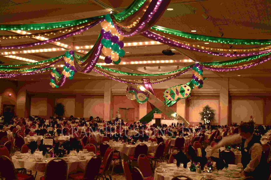 Corporate events grand illusions for Ball room decoration