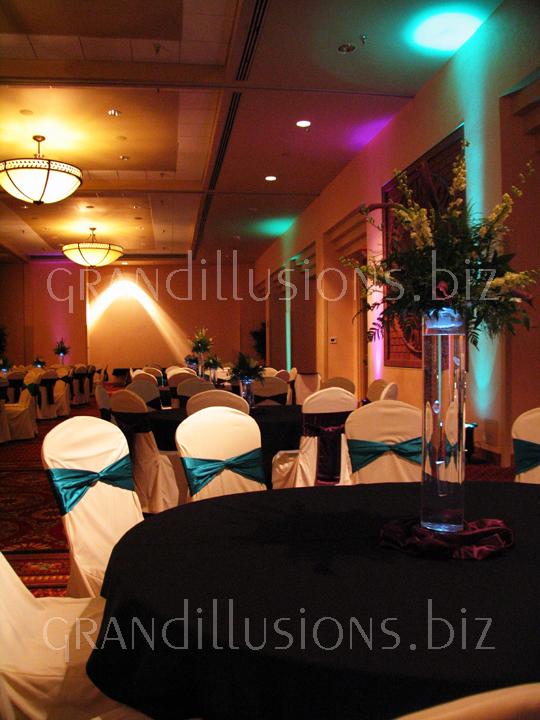 uplighting centerpieces Cornhusker Ballroom